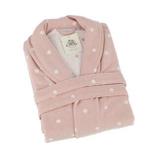 Polka Dots Pink Bathrobe L