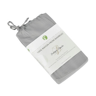 Boutique Blanche Bamboo Pillow Cover 50X75 Cm 2 Pieces Grey