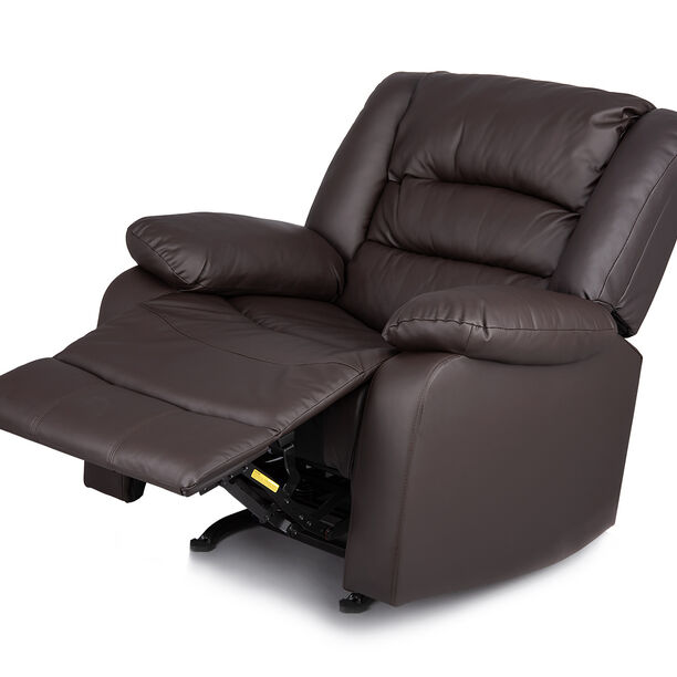 Rocking Recliner Chair Leather Brown image number 0