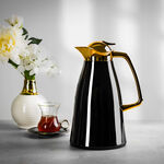 Steel Vacuum Flask Falco Gold And Black 1L image number 0