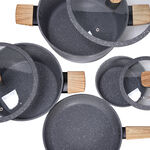 Alberto Aluminum Forged Cookware Set 7 Pieces Grey image number 2